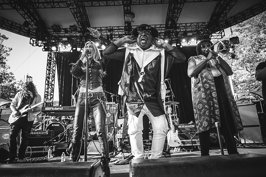 George Clinton with Miss Velvet & The Blue Wolf in Central Park (6/2019)